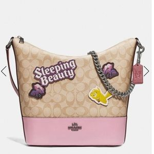 Authentic Coach Disney X L.Ed smooth leather bag🌸